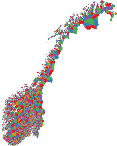 kart postnummer norge Generering av områdekart basert på punktobservasjonar « Karl Ove  kart postnummer norge